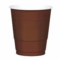 Plastic 12 OZ Cup 20 CT Brown