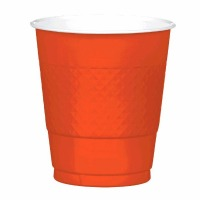 Plastic 12 OZ Cup 20 CT Orange