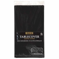 "Plastic Tablecover 54""X108"" Black"