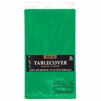 "Plastic Tablecover 54""X108"" Fest Green"