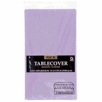 "Plastic Tablecover 54""X108"" Lavender"