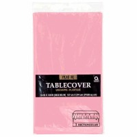 "Plastic Tablecover 54""X108"" New Pink"