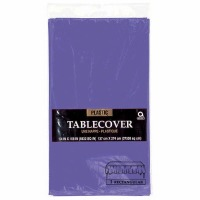 "Plastic Tablecover 54""X108"" Purple"