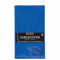 "Plastic Tablecover 54""X108"" Royal Blue"