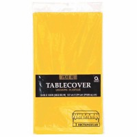 "Plastic Tablecover 54""X108"" Yellow"