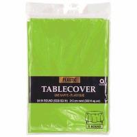 "Plastic Tablecover 84"" Round Kiwi"
