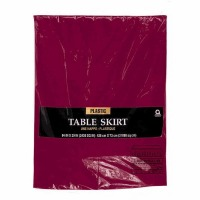 "Plastic Table Skirt 14'X29"" Berry"