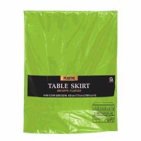 "Plastic Table Skirt 14'X29"" Kiwi"