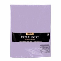 "Plastic Table Skirt 14'X29"" Lavender"