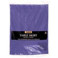 """Plastic Table Skirt 14'X29"""" Purple"""