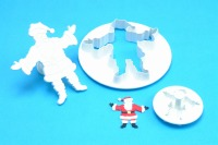 PME Father Christmas W/Embsng  Set
