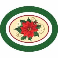 Poinsettia Oval Platter