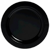 "Prem 10.25"" Plate 20 CT Black"