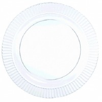 "Prem 7.5"" Plate 40 CT Clear"