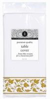 Premium Tablecover White w/ Gold