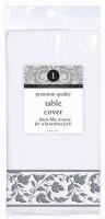 Prem Tablecover White w/ Silver