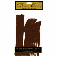 Premium Cutlery 24 CT Brown