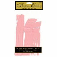 Premium Cutlery 24 CT New Pink