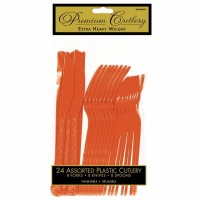 Premium Cutlery 24 CT Orange