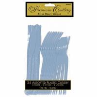 Premium Cutlery 24 CT Pastel Blue