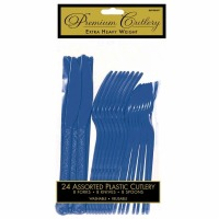 Premium Cutlery 24 CT Royal Blue