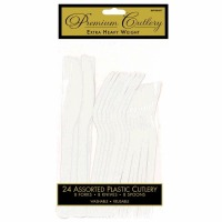 Premium Cutlery 24 CT White