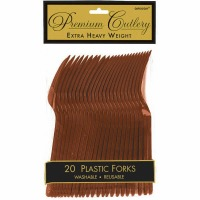 Premium Forks 24 CT Brown