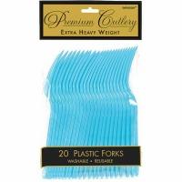 Premium Forks 24 CT Caribbean Blue