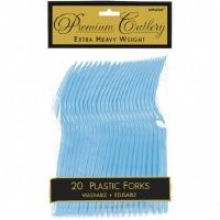 Premium Forks 24 CT Pastel Blue