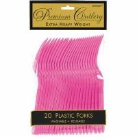 Premium Forks 20 CT Bright Pink
