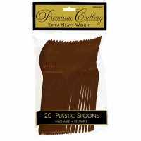 Premium Spoons 24 CT Brown