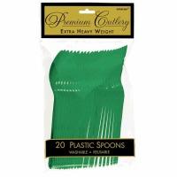 Premium Spoons 24 CT Festival Green