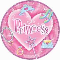 "Princess 7"" Plates 8 CT"