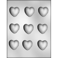 "1-5/8"" Hearts Candy Mold (9)"