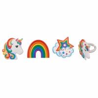 Rainbow Unicorn Pics 12ct