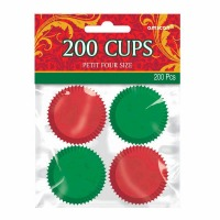 Red&Green PetitFour Cups 200CT