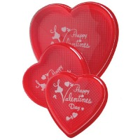 Red Heart Box Imprinted 16 OZ