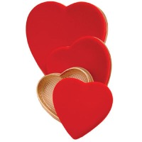 Red Heart Box Imprinted 8 OZ