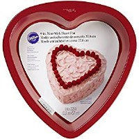 Red Non-Stick Heart Pan 9""