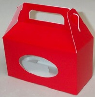 Red Tote Box W/Window