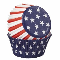 Red White Blue Bake Cups 75 CT