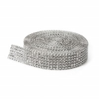 Rhinestone Wrap Silver - 4mm 10'