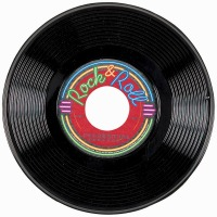"Rock N Roll 9"" Records 3 CT"