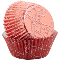 Rose Gold Heart Baking Cup