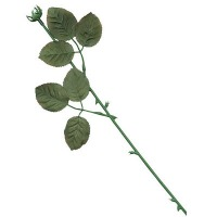 "Rose Stem W/Leaves 16"" 12CT"