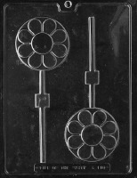 Round Disc Flower Lolly Mold