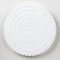 """Round Scalloped S-Plate 12"""""""