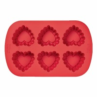 Ruffled Heart Silicon Pan (6)