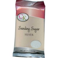 Sanding Sugar 16 OZ Silver