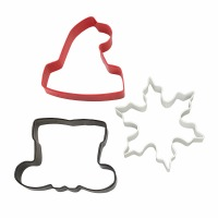 Santa Cookie Cutters 3-PC